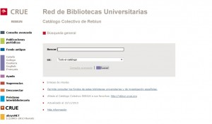 Catálogo colectivo Rebiun