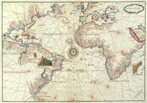 Mapa del Océano Atlántico, 1544