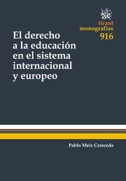 El derecho a la educación en el sistema internacional y europeo