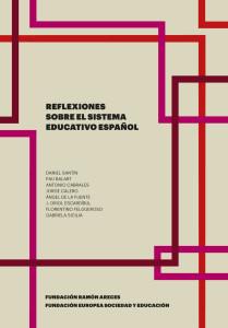 Reflexiones sobre el sistema educativo español