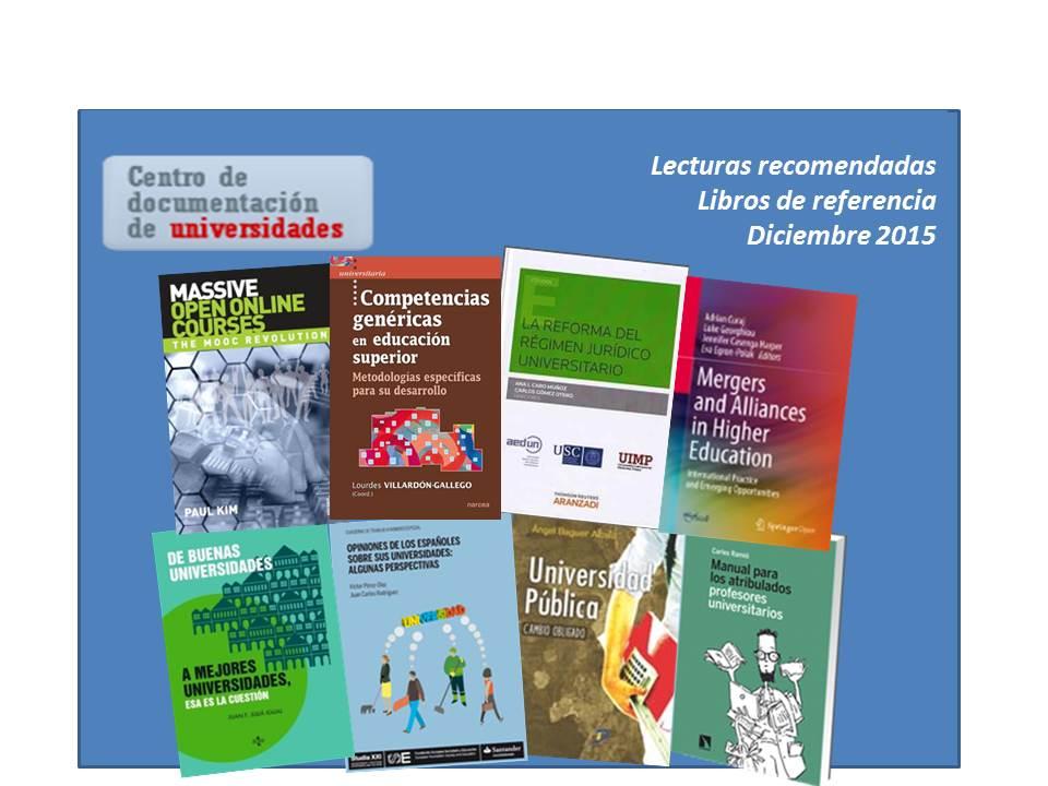 Entrada- lecturas recomendadas (Diciembre 2015)