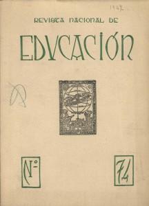 Revista nacional de educacion n. 74