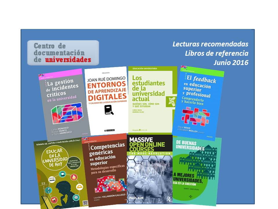 Lecturas recomendadas (junio 2016)