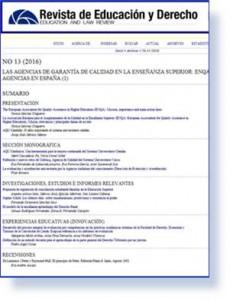 Revista de Educación y Derecho