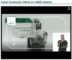 Canal Fundación ONCE en UNED Abierta