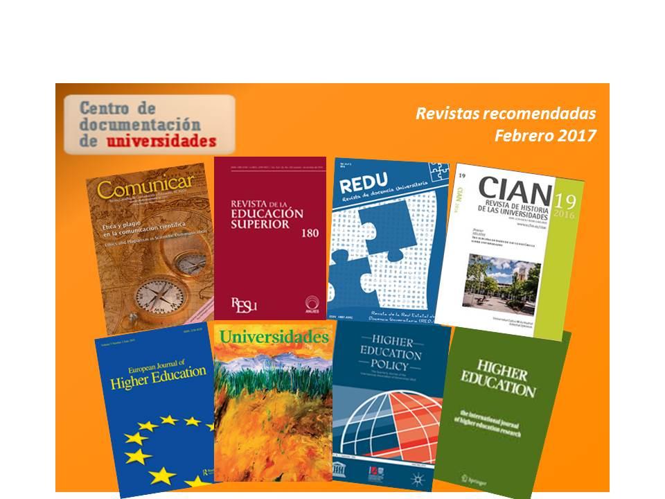 Imagen Revistas recomendadas (febrero 2017)