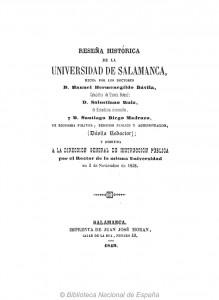 Reseña histórica de la Universidad de Salamanca