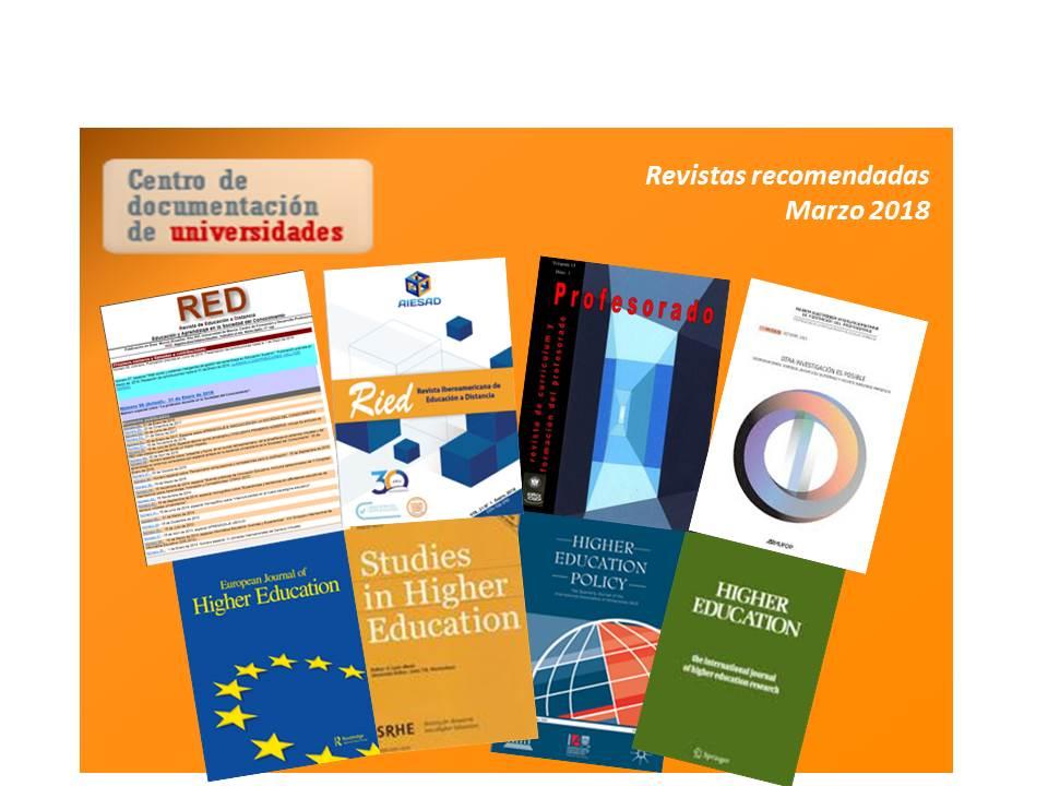 Revistas recomendadas (Marzo 2018)