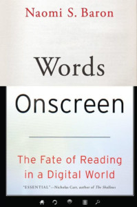 Words onscreen